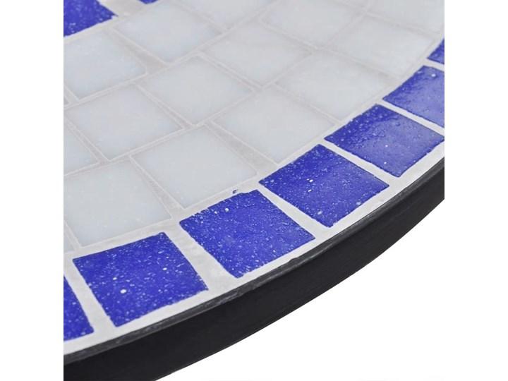 vidaXL 3-cz. zestaw mebli bistro z mozaiką niebiesko-białą Zawartość zestawu Krzesła Stoły z krzesłami Kolor Biały