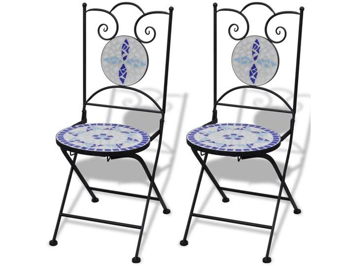 vidaXL 3-cz. zestaw mebli bistro z mozaiką niebiesko-białą Stoły z krzesłami Zawartość zestawu Stół