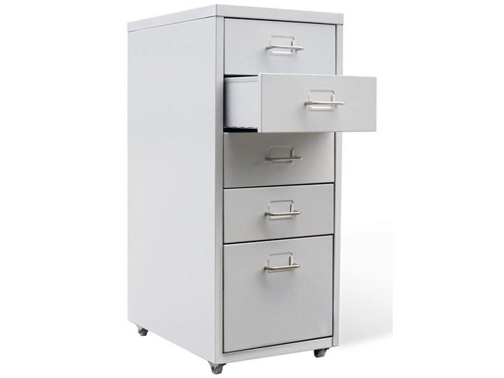 vidaXL Szafka na dokumenty z 5 szufladami, szara, 68,5 cm, stalowa Pomieszczenie Biuro i pracownia Metal Styl Klasyczny