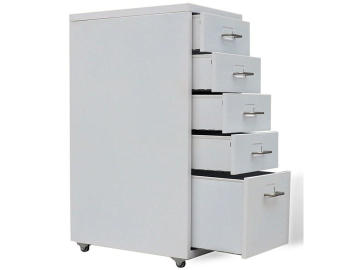 vidaXL Szafka na dokumenty z 5 szufladami, szara, 68,5 cm, stalowa Metal Ilość szuflad Wieloszufladowe