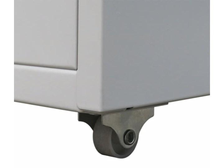 vidaXL Szafka na dokumenty z 5 szufladami, szara, 68,5 cm, stalowa Metal Pomieszczenie Biuro i pracownia