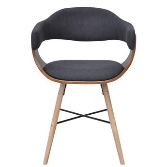 vidaXL Krzesła do jadalni, 6 szt., ciemnoszare, gięte drewno i tkanina