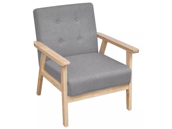 vidaXL Fotel, jasnoszary, tkanina Fotel tradycyjny Głębokość 48 cm Drewno Głębokość 67 cm Wysokość 74 cm Wysokość 73 cm Styl Vintage Szerokość 65 cm Pomieszczenie Salon