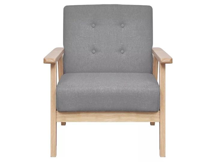 vidaXL Fotel, jasnoszary, tkanina Szerokość 65 cm Wysokość 73 cm Wysokość 74 cm Drewno Fotel tradycyjny Głębokość 48 cm Styl Vintage Głębokość 67 cm Pomieszczenie Salon