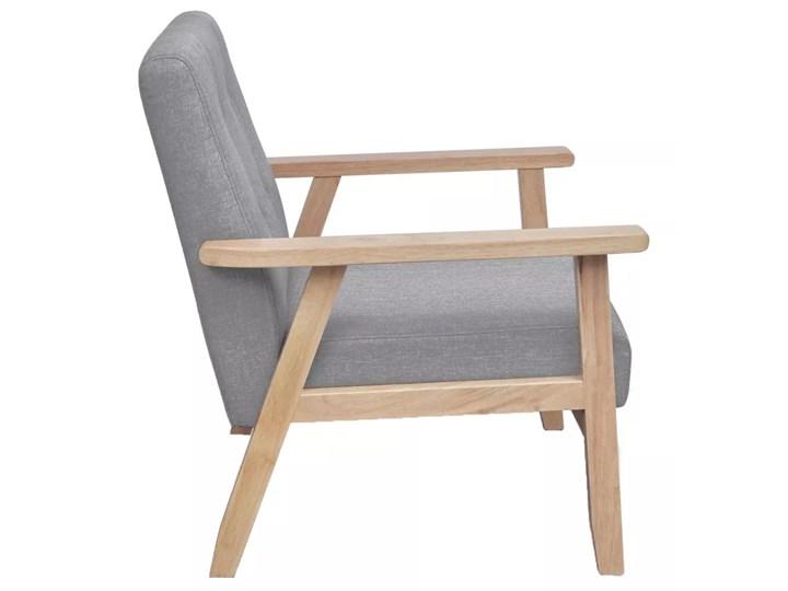vidaXL Fotel, jasnoszary, tkanina Drewno Wysokość 73 cm Szerokość 65 cm Wysokość 74 cm Głębokość 48 cm Głębokość 67 cm Fotel tradycyjny Styl Vintage