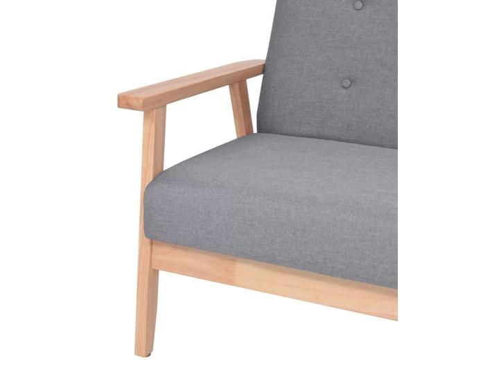 vidaXL Fotel, jasnoszary, tkanina Głębokość 48 cm Wysokość 73 cm Drewno Szerokość 65 cm Głębokość 67 cm Styl Vintage Wysokość 74 cm Fotel tradycyjny Pomieszczenie Salon