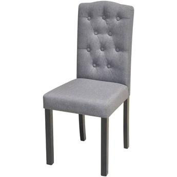 vidaXL Krzesła do jadalni, 4 szt., jasnoszare, tapicerowane tkaniną