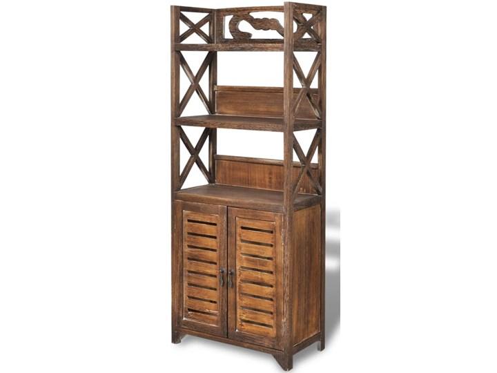 vidaXL Drewniana szafka łazienkowa Albuquerque, brąz, 46x24x117,5 cm