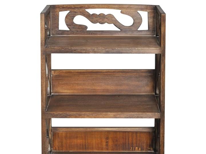 vidaXL Drewniana szafka łazienkowa Albuquerque, brąz, 46x24x117,5 cm Drewno Szerokość 46 cm Stojące Wysokość 118 cm Głębokość 24 cm Szafki Kolor Brązowy