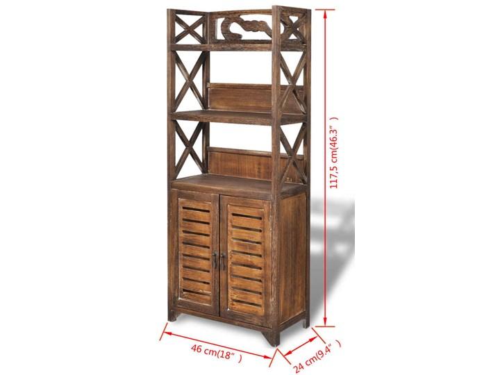 vidaXL Drewniana szafka łazienkowa Albuquerque, brąz, 46x24x117,5 cm Wysokość 118 cm Głębokość 24 cm Szafki Stojące Drewno Szerokość 46 cm Kolor Brązowy