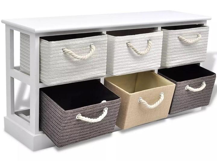 vidaXL Ławka ze schowkiem z 6 szufladami, drewniana Kategoria Ławki do salonu Tradycyjna Pomieszczenie Przedpokój