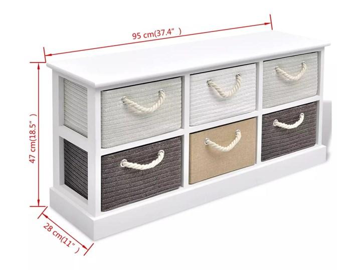vidaXL Ławka ze schowkiem z 6 szufladami, drewniana Tradycyjna Pomieszczenie Sypialnia