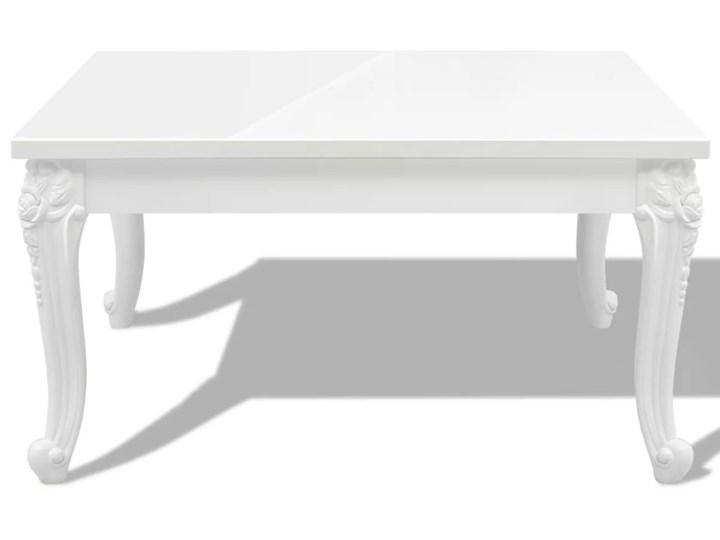 vidaXL Stolik do kawy, biały, wysoki połysk 80x80x42 cm Płyta MDF Rodzaj nóg Gięte Rozmiar blatu 80x80 cm