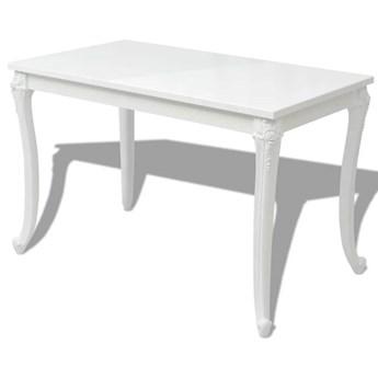 vidaXL Stół jadalniany, 116x66x76 cm, biały o wysokim połysku