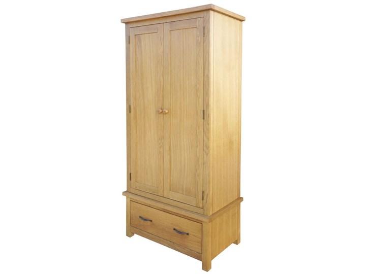 vidaXL Szafa z szufladą, 90x52x183 cm, lite drewno dębowe Głębokość 52 cm Pomieszczenie Garderoba Szerokość 90 cm Pomieszczenie Sypialnia