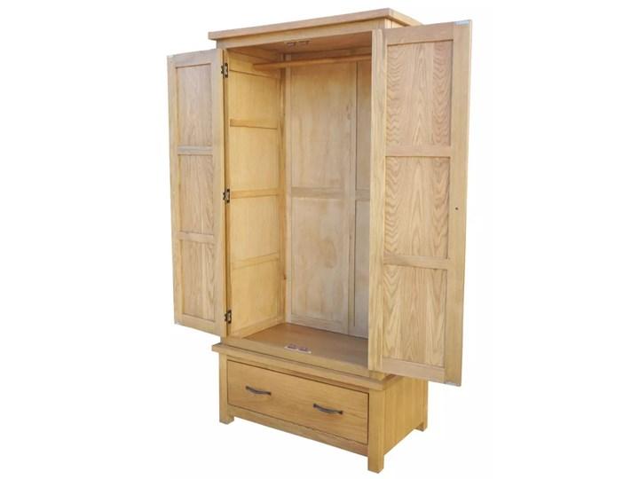 vidaXL Szafa z szufladą, 90x52x183 cm, lite drewno dębowe Szerokość 90 cm Kategoria Szafy do garderoby Głębokość 52 cm Pomieszczenie Garderoba