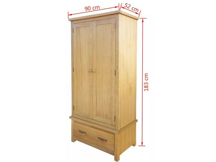 vidaXL Szafa z szufladą, 90x52x183 cm, lite drewno dębowe Szerokość 90 cm Głębokość 52 cm Kolor Beżowy