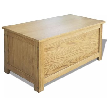vidaXL Skrzynia do przechowywania, 90x45x45 cm, lite drewno dębowe