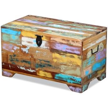 vidaXL Skrzynia do przechowywania, lite drewno z odzysku