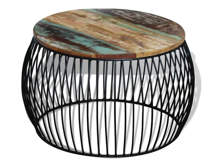 vidaXL Stolik kawowy z drewna odzyskanego, okrągły, 68 x 37 cm