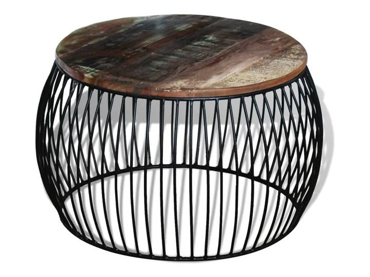 vidaXL Stolik kawowy z drewna odzyskanego, okrągły, 68 x 45 cm Metal Drewno Wysokość 43 cm Kategoria Stoliki i ławy
