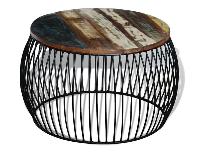 vidaXL Stolik kawowy z drewna odzyskanego, okrągły, 68 x 45 cm Wysokość 43 cm Kategoria Stoliki i ławy Drewno Metal Kolor Wielokolorowy