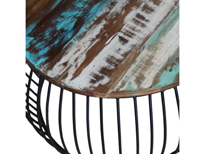 vidaXL Stolik kawowy z drewna odzyskanego, okrągły, 68 x 45 cm Drewno Metal Wysokość 43 cm Kategoria Stoliki i ławy
