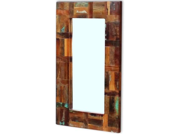 vidaXL Lustro z ramą z drewna odzyskanego, 80x50 cm Ścienne Prostokątne Pomieszczenie Garderoba