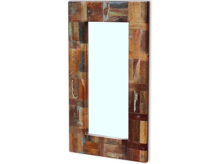 vidaXL Lustro z ramą z drewna odzyskanego, 80x50 cm Styl Vintage Prostokątne Ścienne Pomieszczenie Garderoba