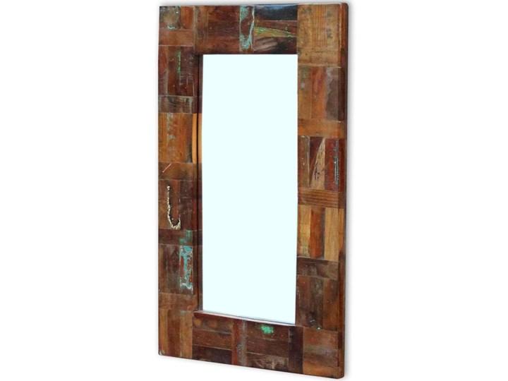 vidaXL Lustro z ramą z drewna odzyskanego, 80x50 cm Ścienne Prostokątne Styl Vintage