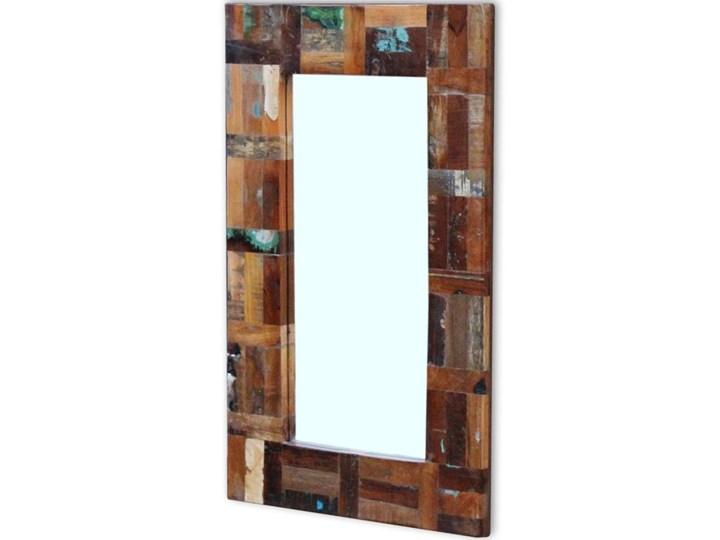 vidaXL Lustro z ramą z drewna odzyskanego, 80x50 cm Ścienne Pomieszczenie Garderoba Prostokątne Pomieszczenie Łazienka