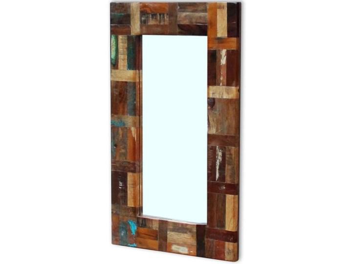 vidaXL Lustro z ramą z drewna odzyskanego, 80x50 cm Ścienne Styl Vintage Prostokątne Kategoria Lustra