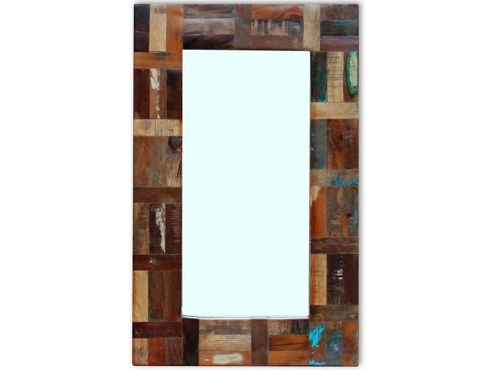vidaXL Lustro z ramą z drewna odzyskanego, 80x50 cm Kategoria Lustra Ścienne Prostokątne Pomieszczenie Łazienka