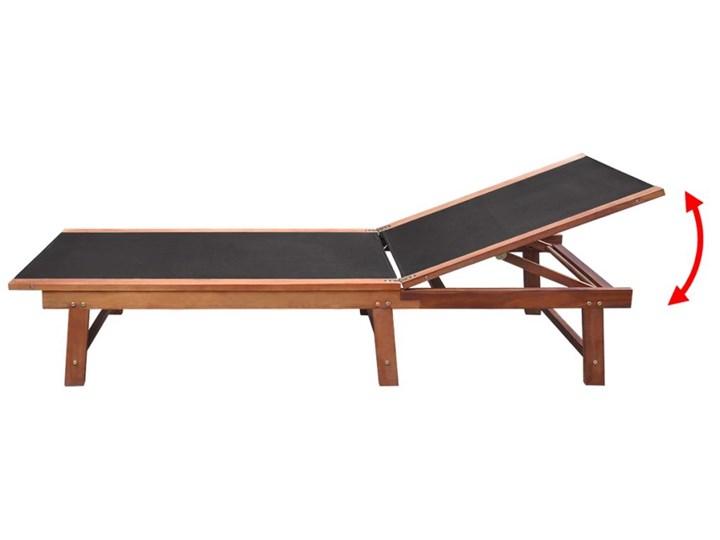 vidaXL Leżaki ze stolikiem, 2 szt., lite drewno akacjowe i textilene Z regulowanym oparciem Styl Rustykalny