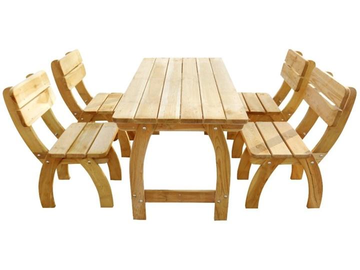 vidaXL 5-cz. zestaw mebli ogrodowych, impregnowane drewno sosnowe Stoły z krzesłami Kategoria Zestawy mebli ogrodowych