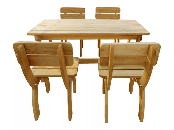vidaXL 5-cz. zestaw mebli ogrodowych, impregnowane drewno sosnowe Kolor Beżowy Stoły z krzesłami Zawartość zestawu Krzesła