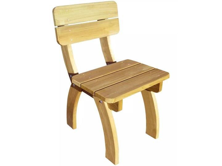 vidaXL 5-cz. zestaw mebli ogrodowych, impregnowane drewno sosnowe Zawartość zestawu Stół Stoły z krzesłami Kolor Beżowy