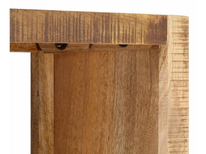 vidaXL Regał na książki, 80x25x175 cm, lite drewno mango Kolor Beżowy Na zdjęcia Szerokość 80 cm Pomieszczenie Pokój nastolatka