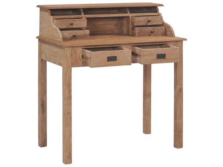 vidaXL Biurko, 90x50x100 cm, lite drewno tekowe Szerokość 90 cm Głębokość 50 cm Sekretarzyk Kategoria Biurka