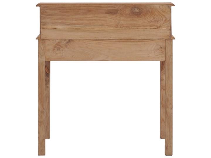 vidaXL Biurko, 90x50x100 cm, lite drewno tekowe Głębokość 50 cm Sekretarzyk Szerokość 90 cm Styl Rustykalny Pomieszczenie Biuro