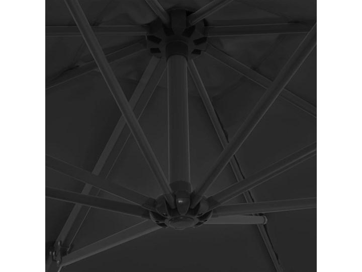 vidaXL Parasol ogrodowy z przenośną podstawą, antracytowy Parasole Kolor Szary