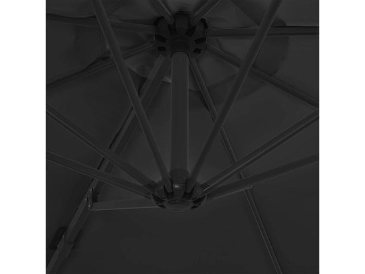 vidaXL Parasol ogrodowy z przenośną podstawą, antracytowy Kolor Czarny Parasole Kolor Szary