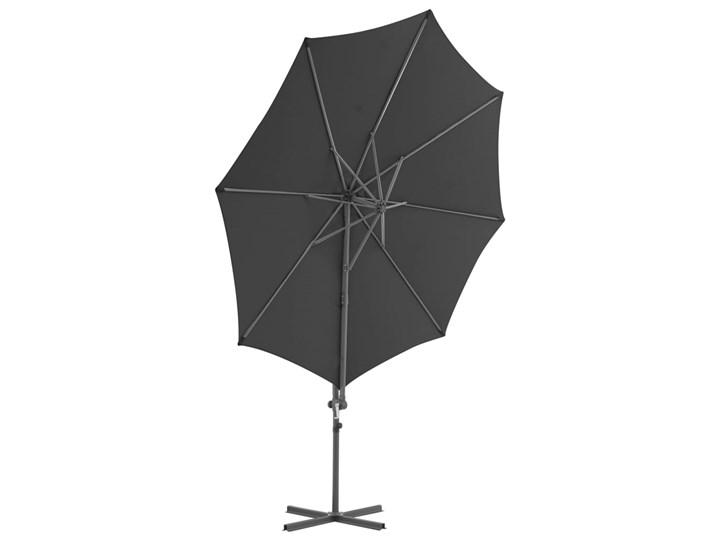 vidaXL Parasol ogrodowy z przenośną podstawą, antracytowy Parasole Kolor Czarny