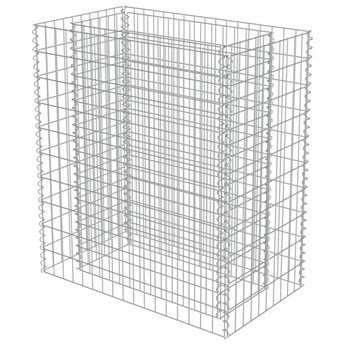 vidaXL Podwyższona donica gabionowa, galwanizowana stal, 90x50x100 cm