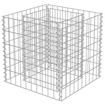 vidaXL Podwyższona donica gabionowa, galwanizowana stal, 50x50x50 cm