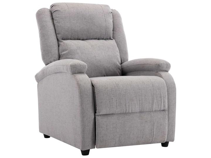 vidaXL Rozkładany fotel telewizyjny, jasnoszary, tapicerowany tkaniną Drewno Fotel rozkładany Pomieszczenie Salon