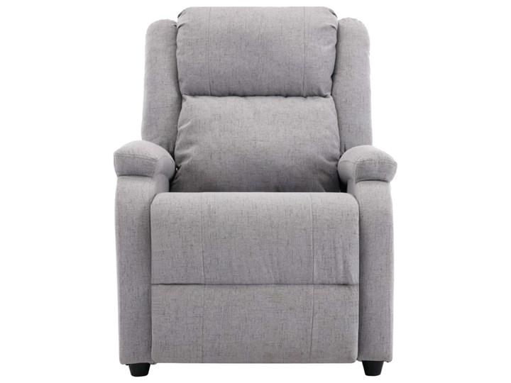 vidaXL Rozkładany fotel telewizyjny, jasnoszary, tapicerowany tkaniną Fotel rozkładany Pomieszczenie Salon Drewno Kategoria Fotele do salonu