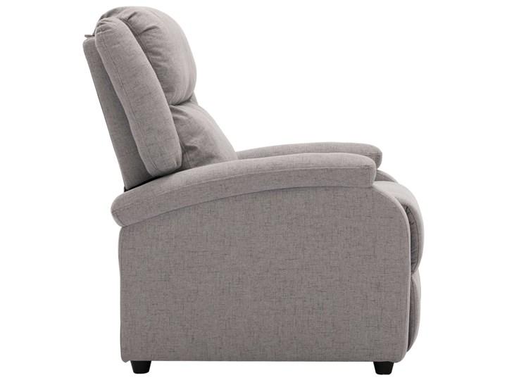 vidaXL Rozkładany fotel telewizyjny, jasnoszary, tapicerowany tkaniną Pomieszczenie Salon Fotel rozkładany Drewno Kategoria Fotele do salonu