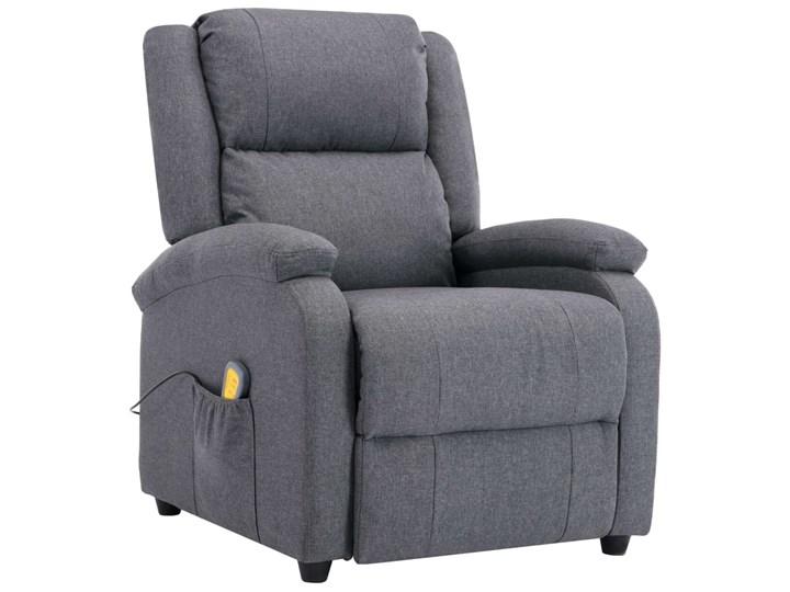 vidaXL Rozkładany fotel masujący, ciemnoszary, tkanina Wysokość 71 cm Drewno Głębokość 71 cm Fotel rozkładany Kategoria Fotele do salonu