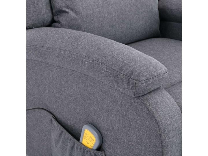 vidaXL Rozkładany fotel masujący, ciemnoszary, tkanina Wysokość 71 cm Drewno Fotel rozkładany Głębokość 71 cm Pomieszczenie Salon